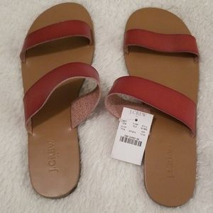 J.Crew - genuine leather Summer Boar Slide sandals